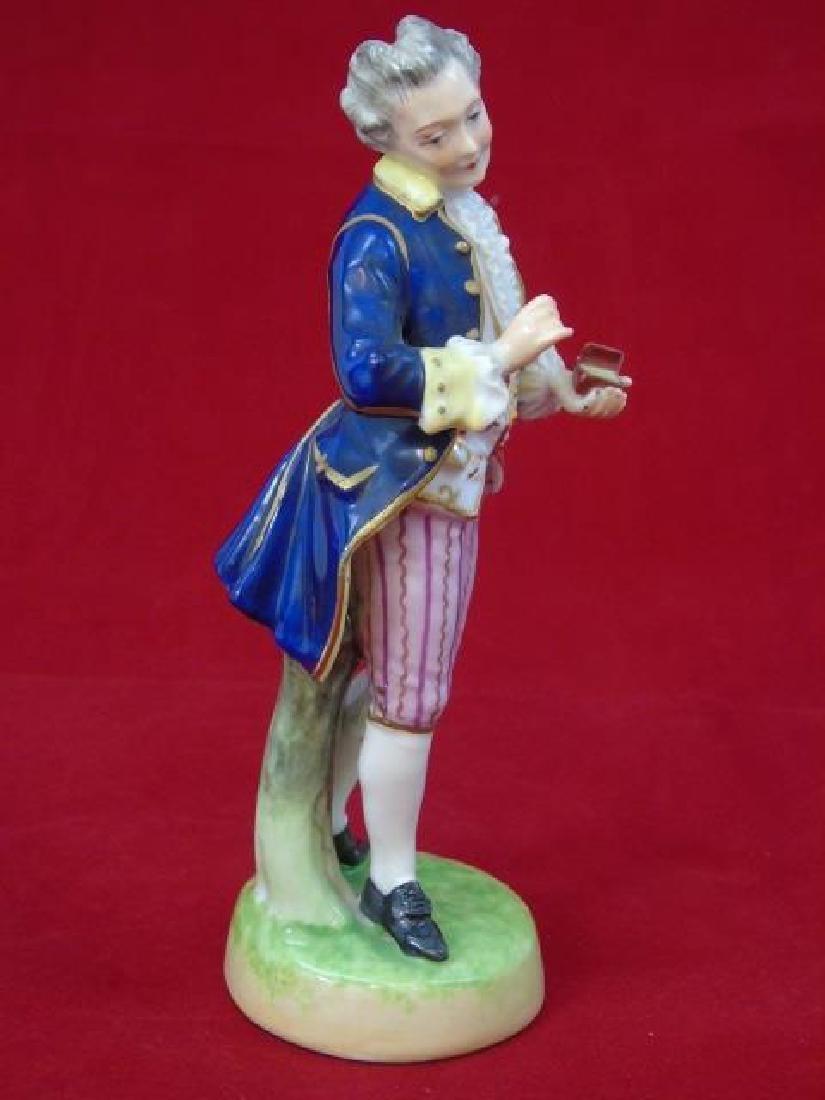 Antique Capodimonte Porcelain Statue of Man w Box - 4