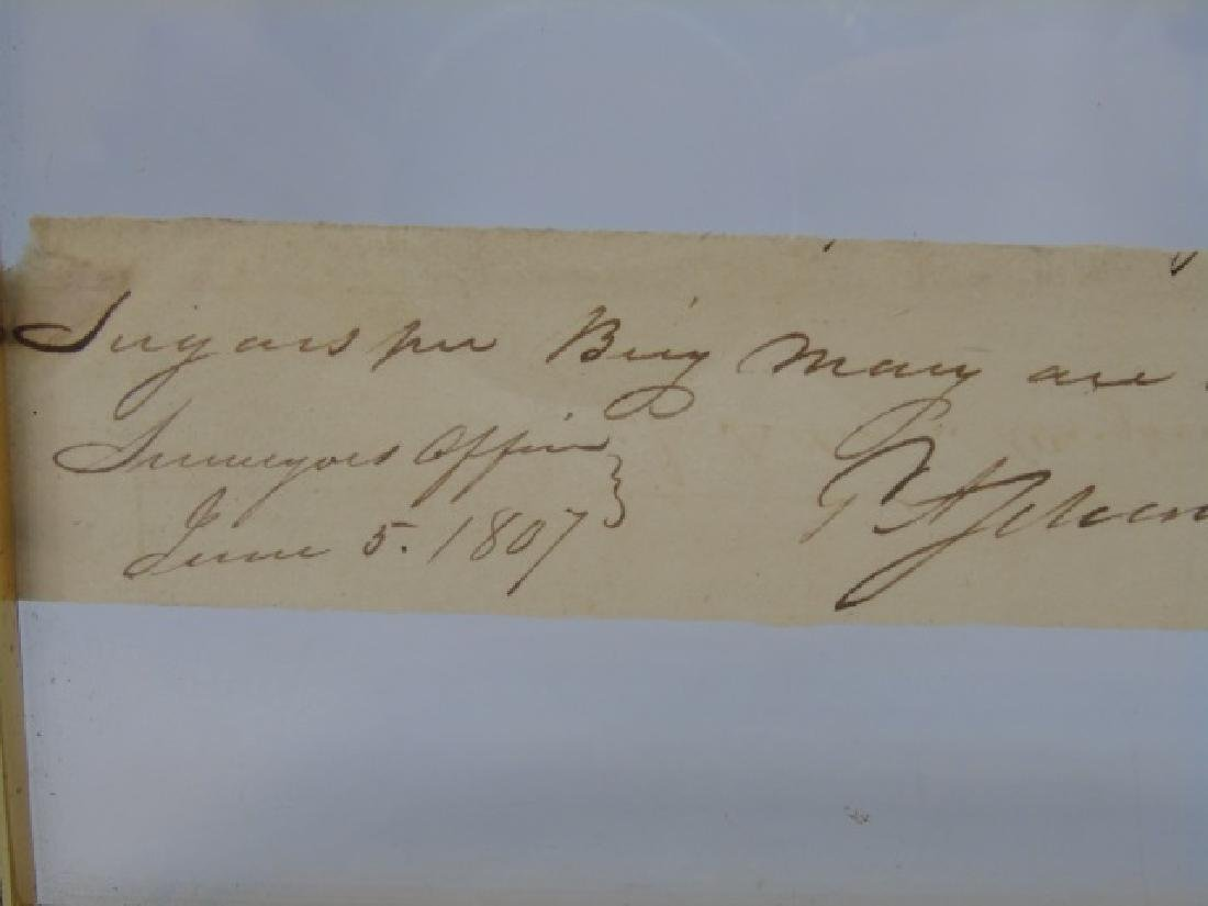 Antique 19 C Document Invoice from Brig Mary 1807 - 3
