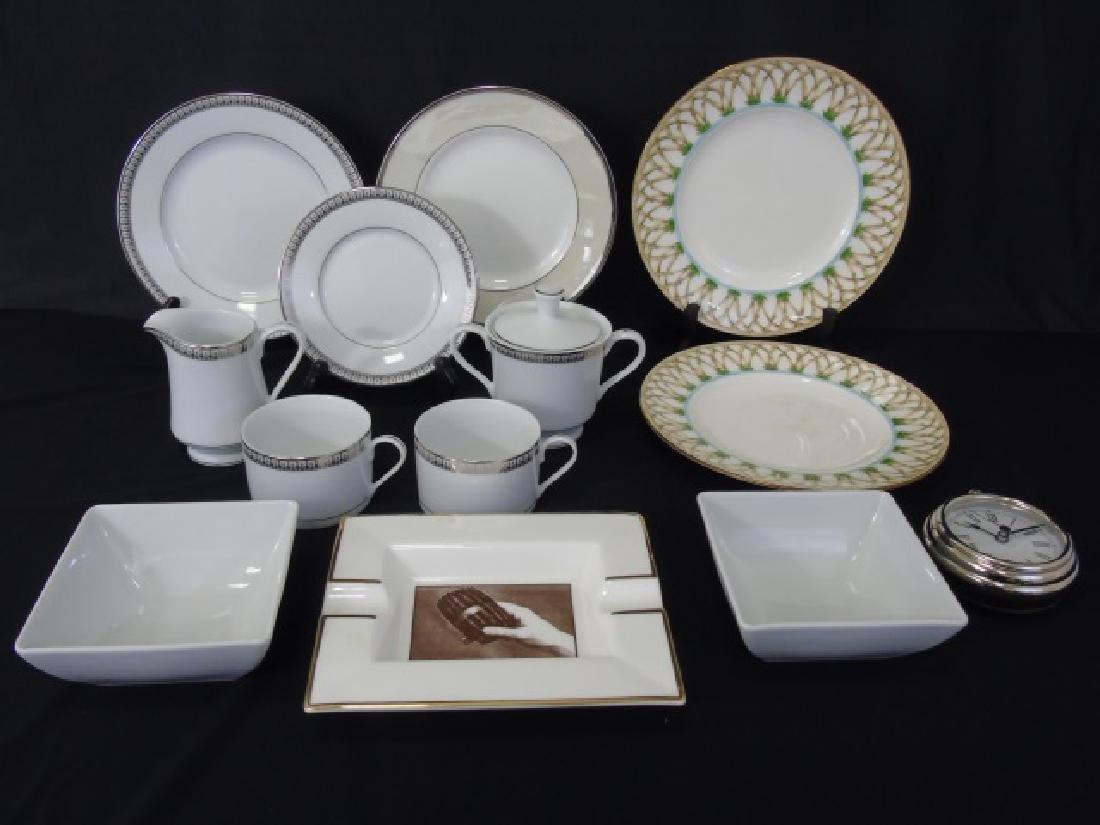 Assorted Tables - Clock & Designer Porcelain Items