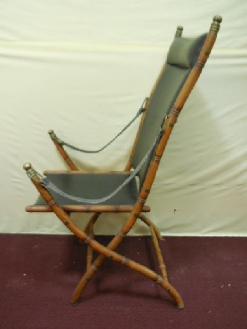 Victorian Faux Bamboo Campaign Folding Chairs - 2
