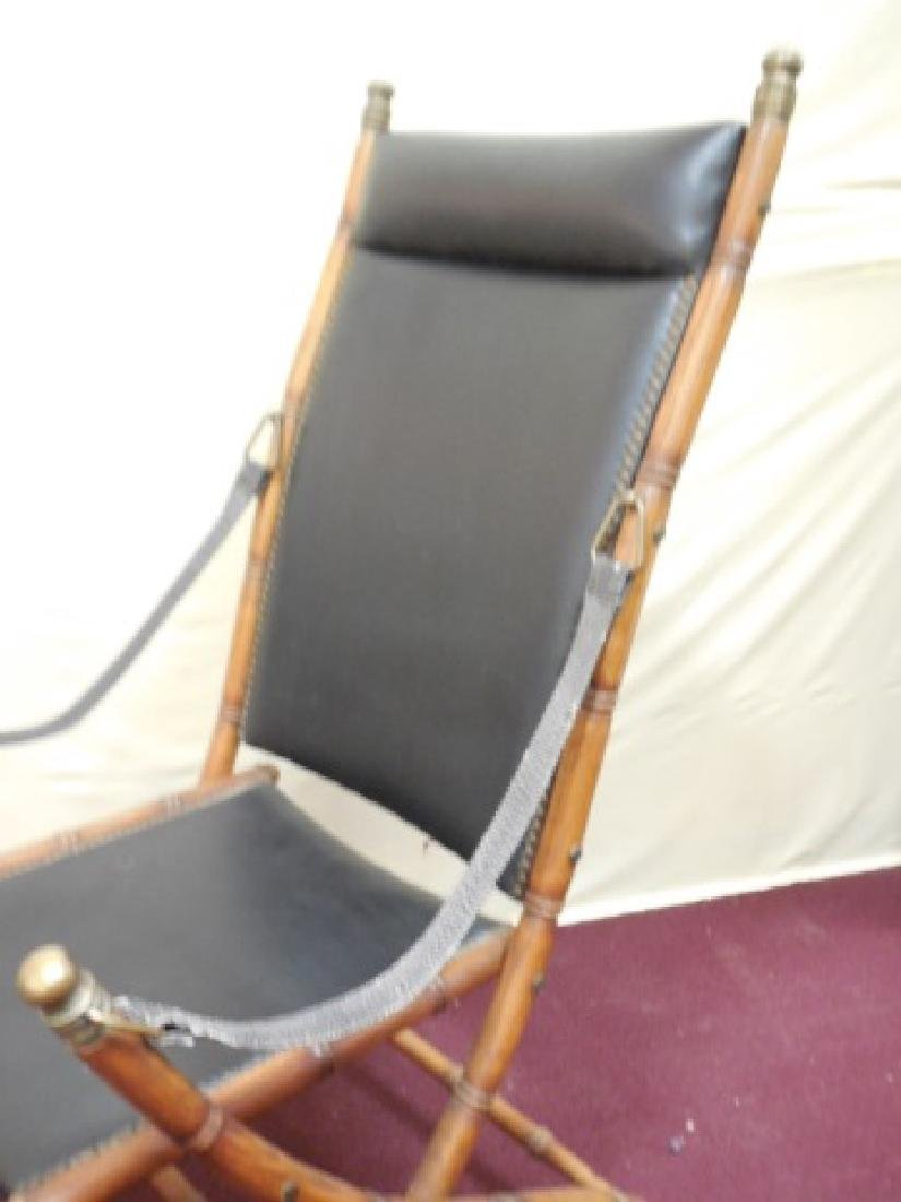 Victorian Faux Bamboo Campaign Folding Chairs - 4