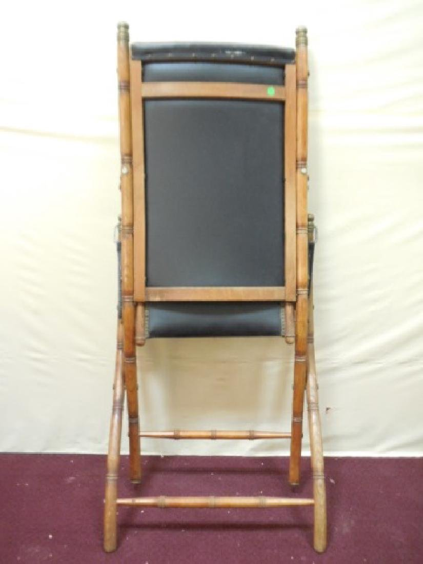 Victorian Faux Bamboo Campaign Folding Chairs - 5