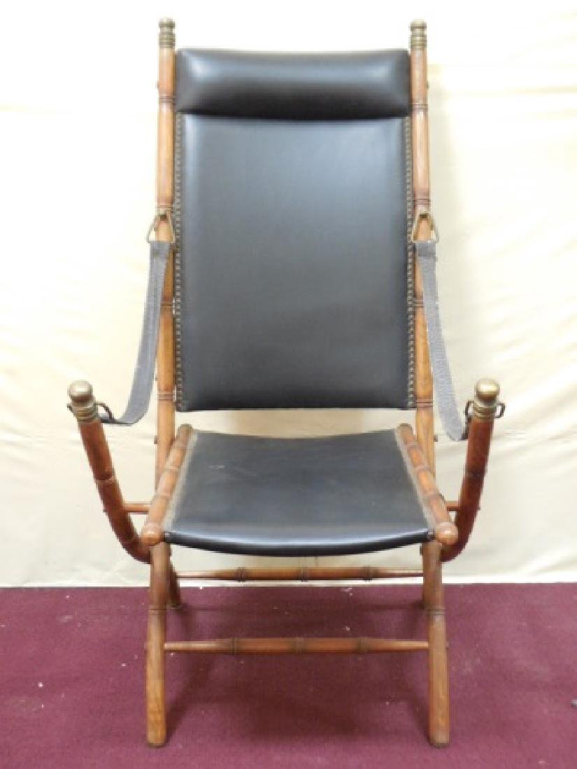 Victorian Faux Bamboo Campaign Folding Chairs - 6