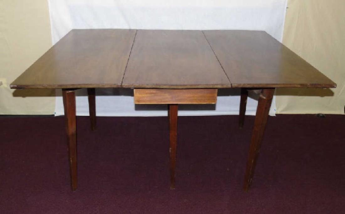 Antique Drop Leaf Mahogany Dining Table - 2