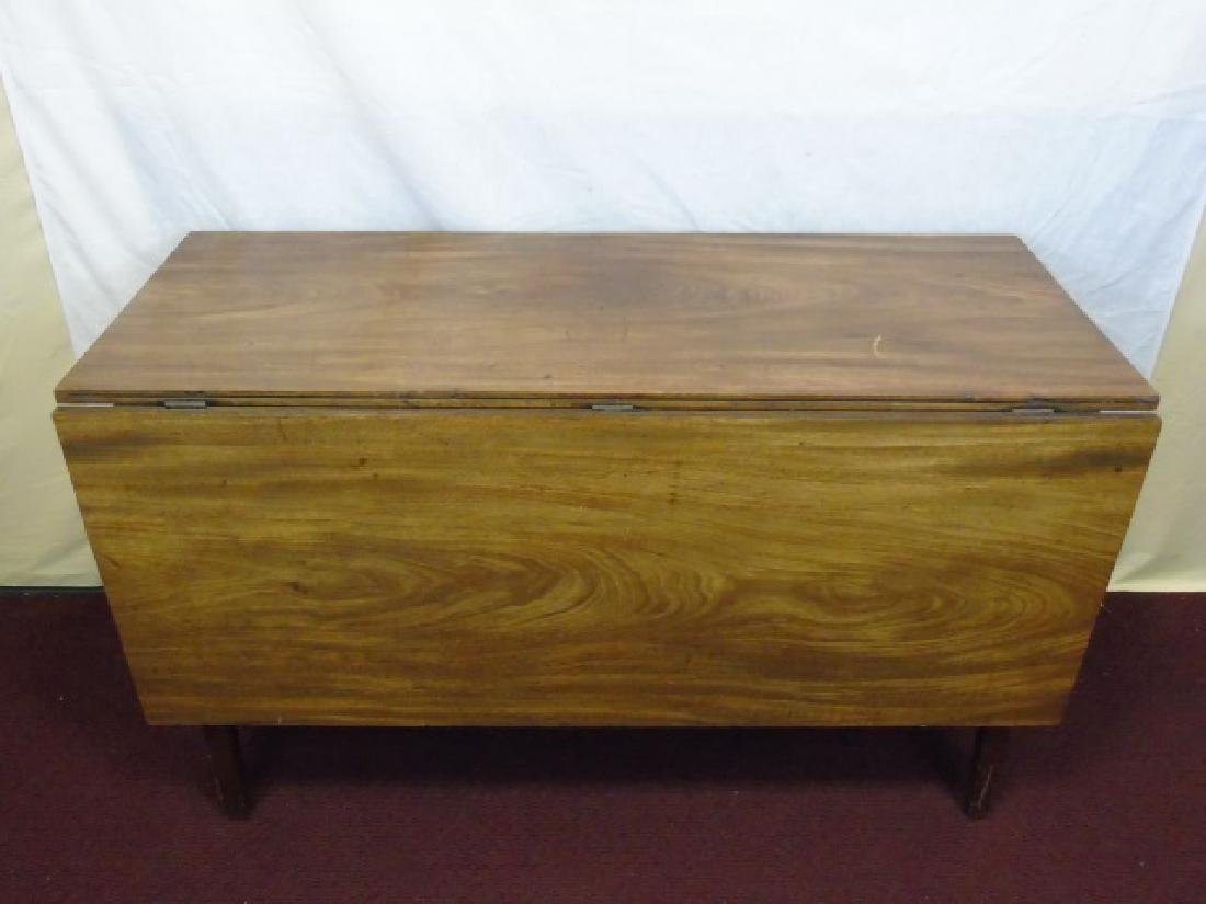 Antique Drop Leaf Mahogany Dining Table - 3