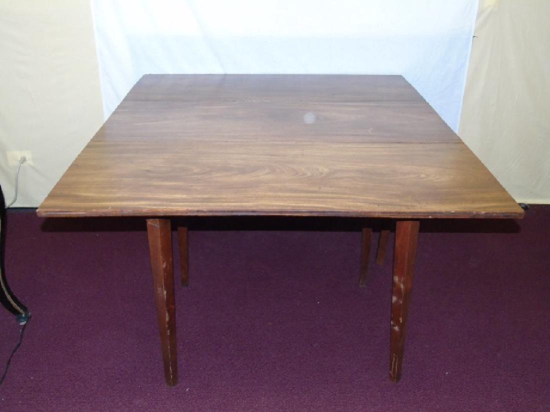 Antique Drop Leaf Mahogany Dining Table - 4