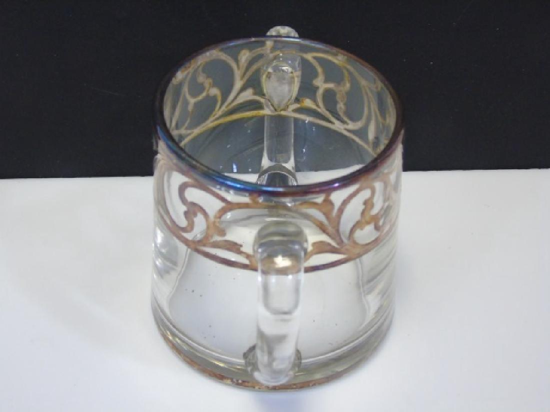 Vintage Creamer & Sugar Sterling Silver Overlay - 2