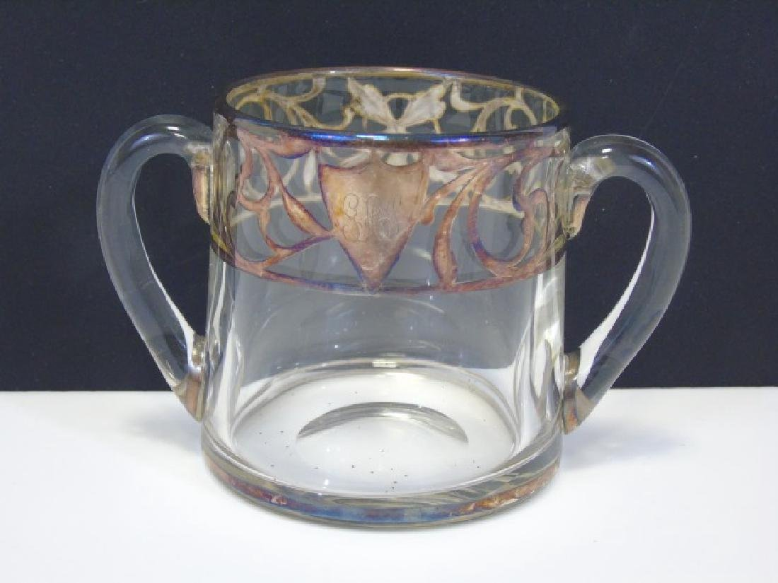 Vintage Creamer & Sugar Sterling Silver Overlay - 7