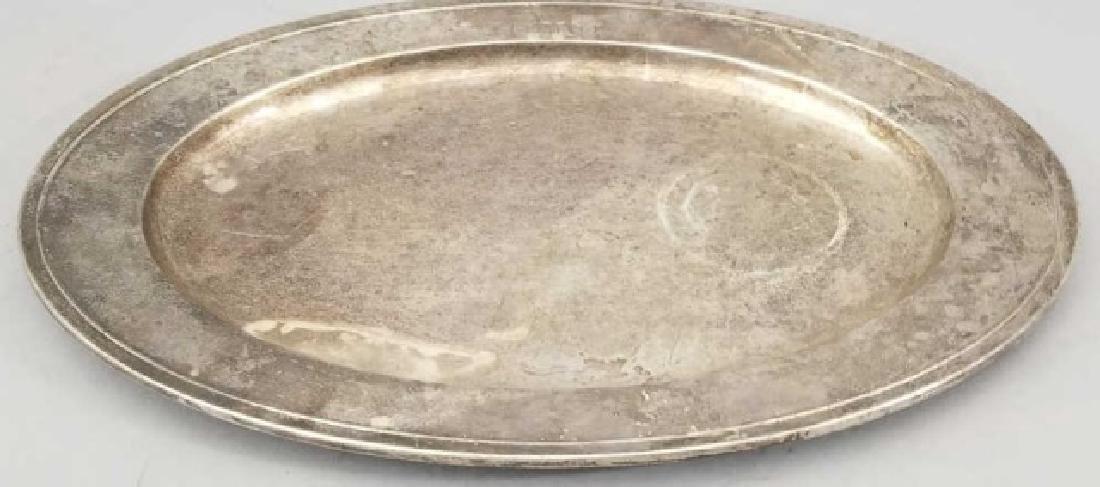 Large Gorham Solid Sterling Silver Oval Platter