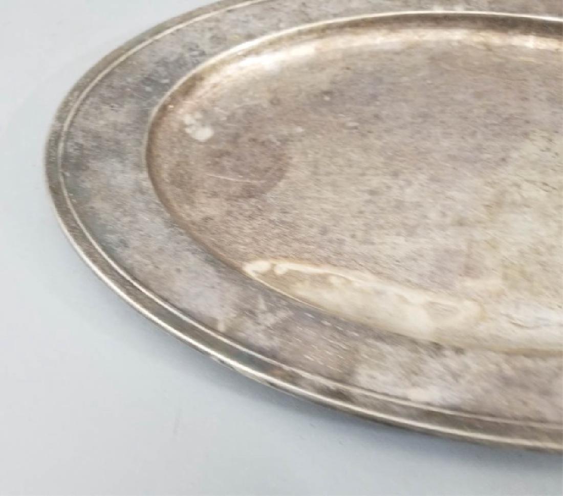 Large Gorham Solid Sterling Silver Oval Platter - 5