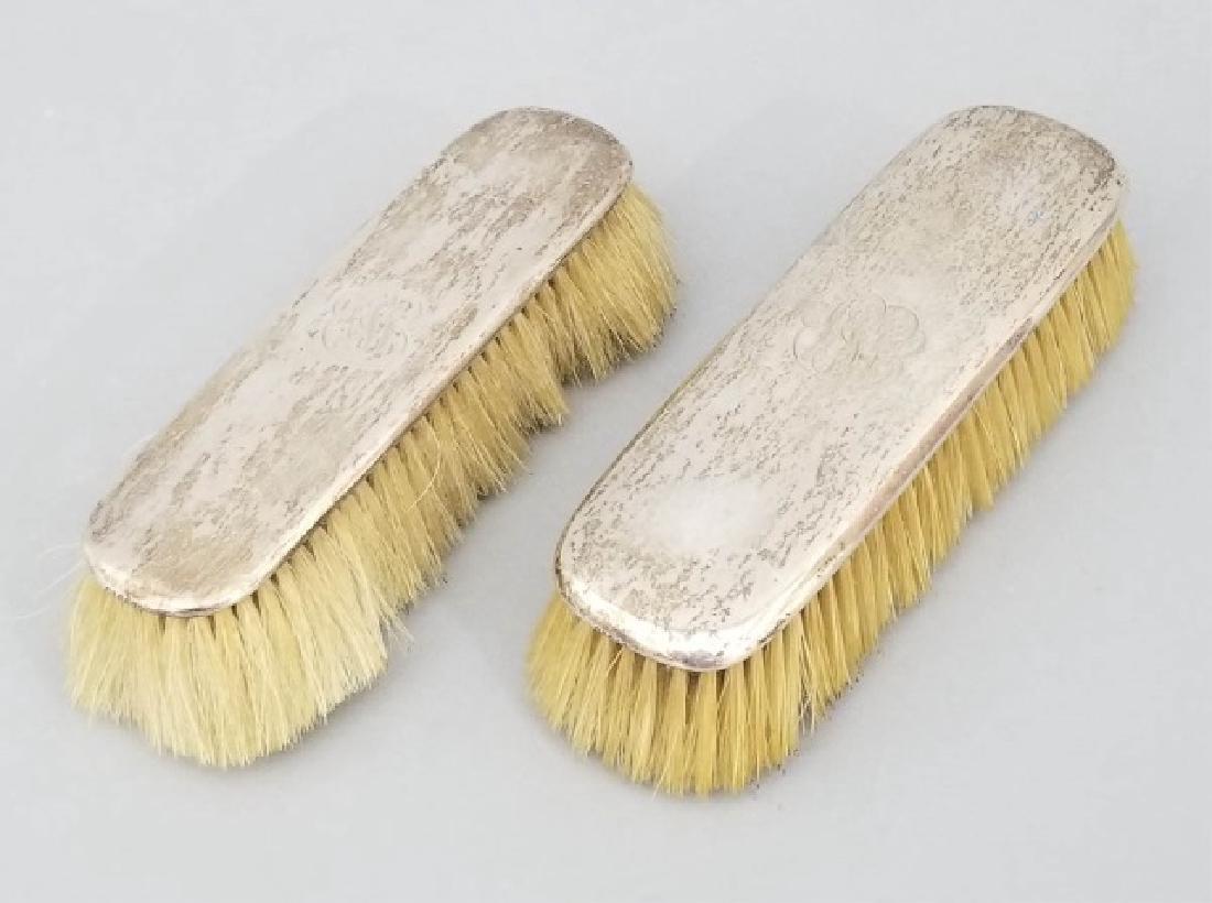 2 Gorham Antique Sterling Silver Handled Brushes