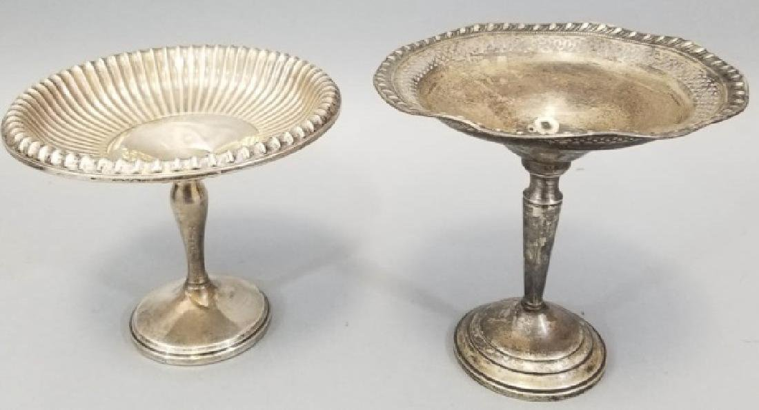 Two Antique Sterling Silver Serving Compotes