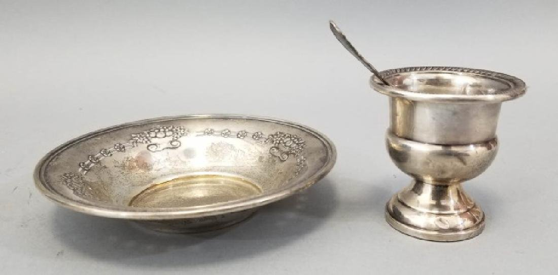 Sterling Silver Bowl, Spoon & Tooth Pick Holder