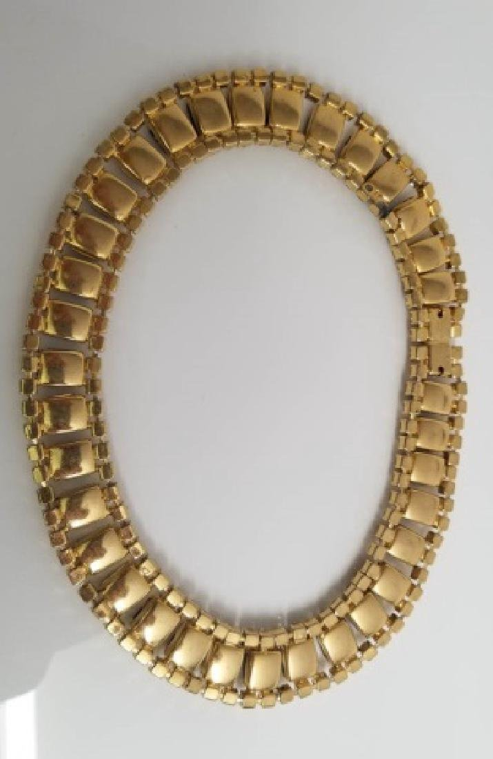 Vintage Costume Jewelry Rhinestone Necklace Collar - 3