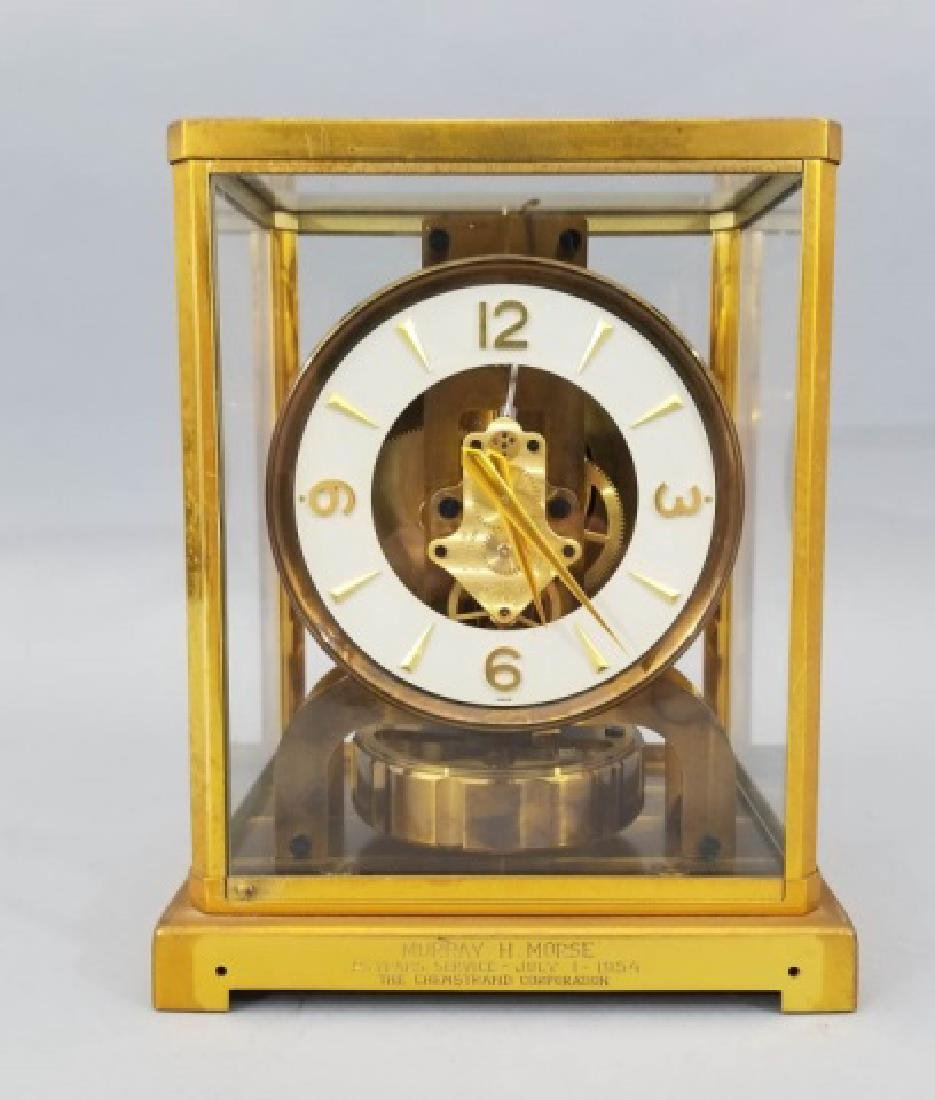 Le Coultre Atmos Gilt Metal Swiss Made Clock