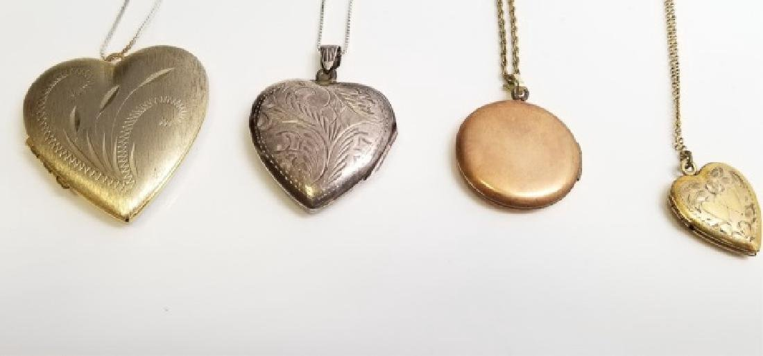 Four Estate Sterling Silver & Gold Filled Lockets