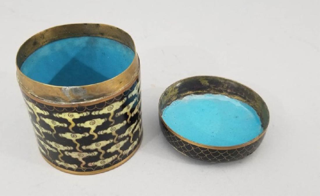 Antique Chinese Cloisonne Enamel Cloud Motif Jar - 5