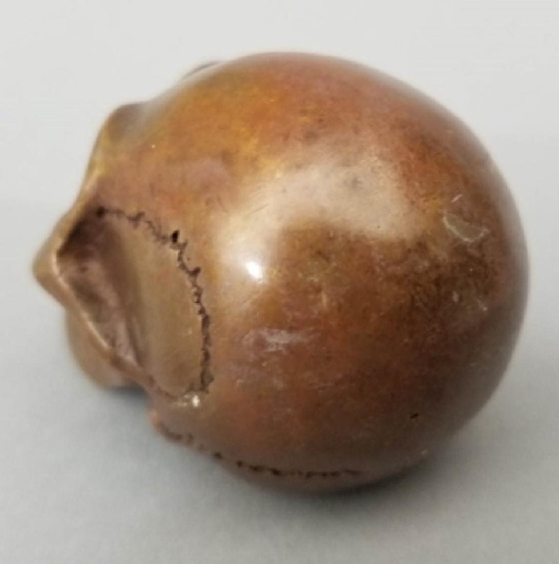 Bronze Table Statue - Memento Mori Human Skull - 6