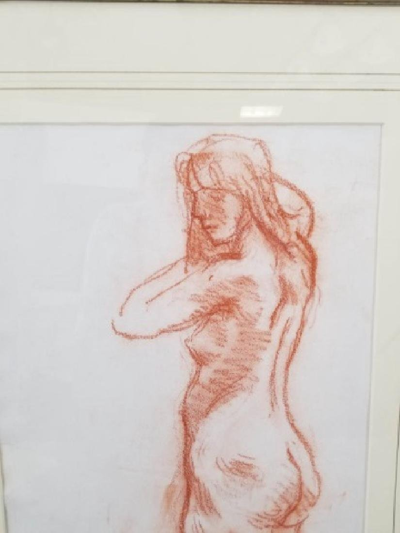 Moses Soyer Standing Nude Sanguine on Paper - 6