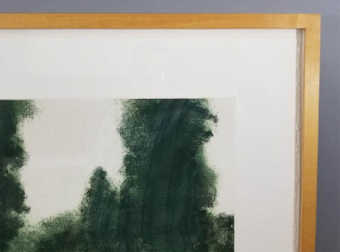 April Gornik Engraving of Trees on Laid Paper - 3
