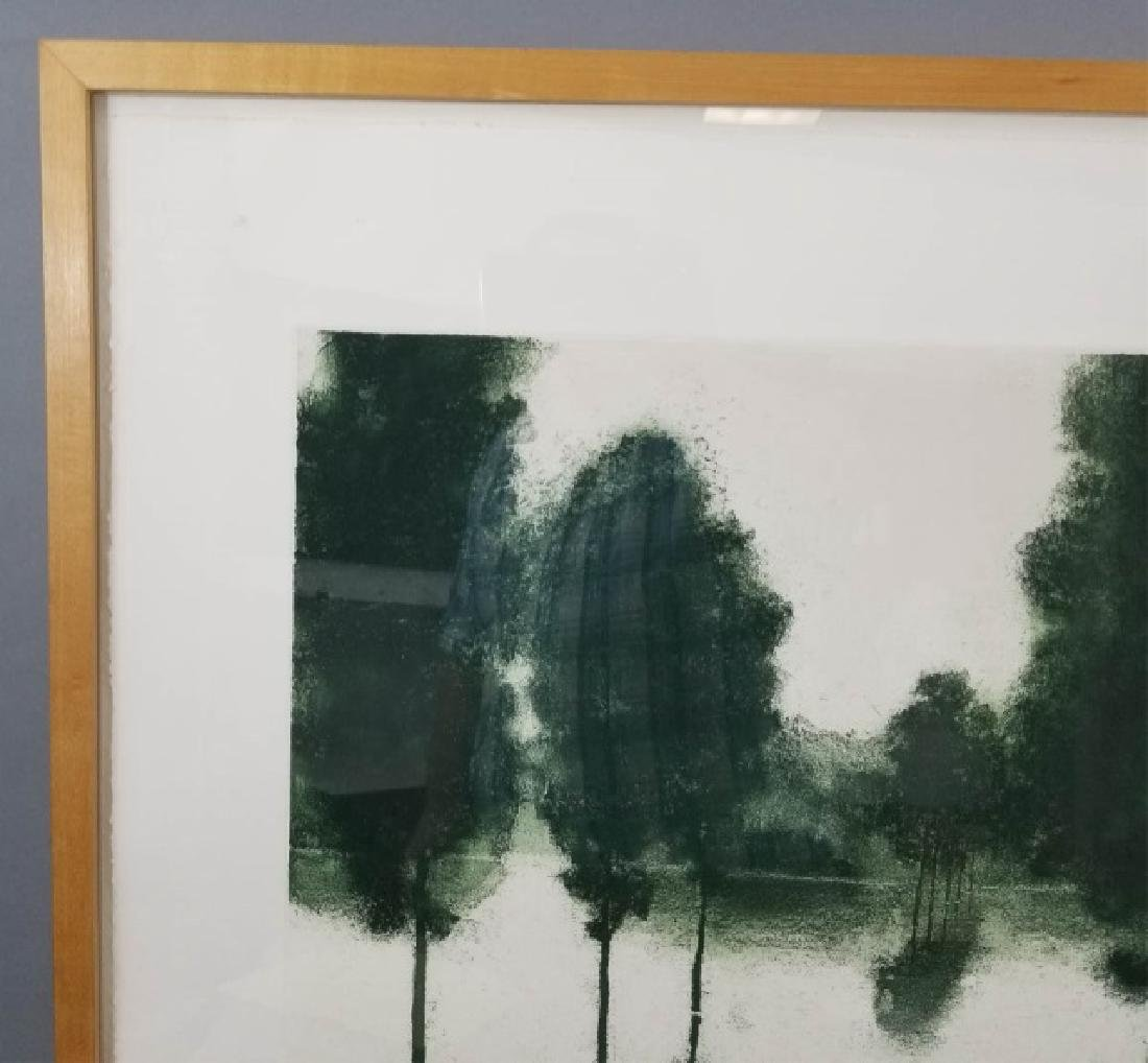 April Gornik Engraving of Trees on Laid Paper - 4