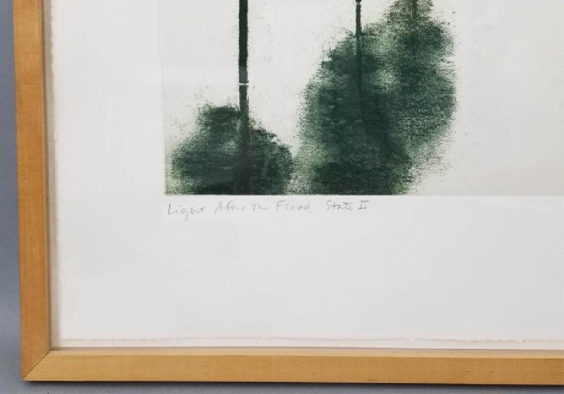 April Gornik Engraving of Trees on Laid Paper - 5