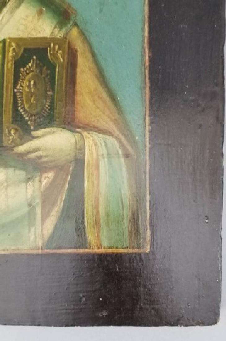 Antique Imperial Russian Icon of Saint Nicholas - 5