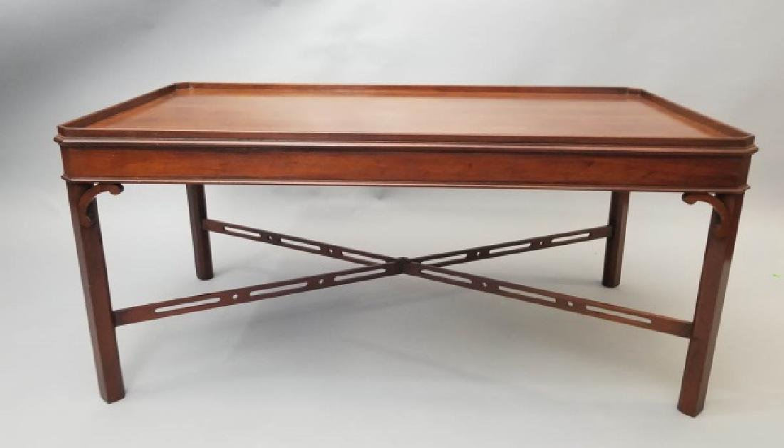 English Georgian Style Carved Coffee Table
