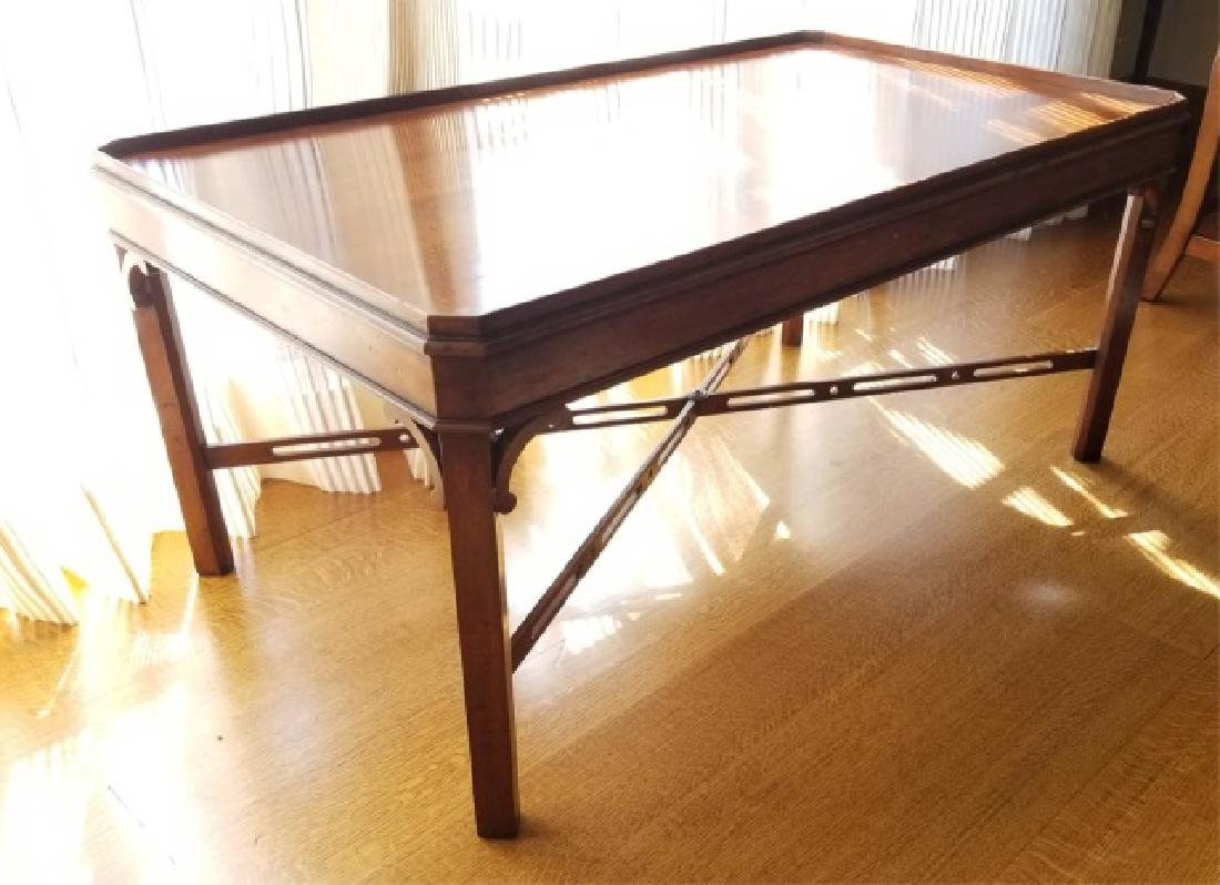 English Georgian Style Carved Coffee Table - 2