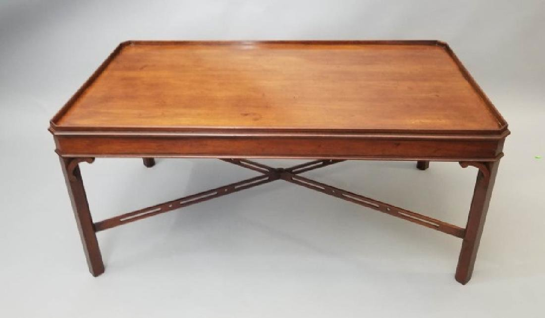 English Georgian Style Carved Coffee Table - 9