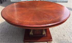 Quality Contemporary Pedestal Base Dining Table