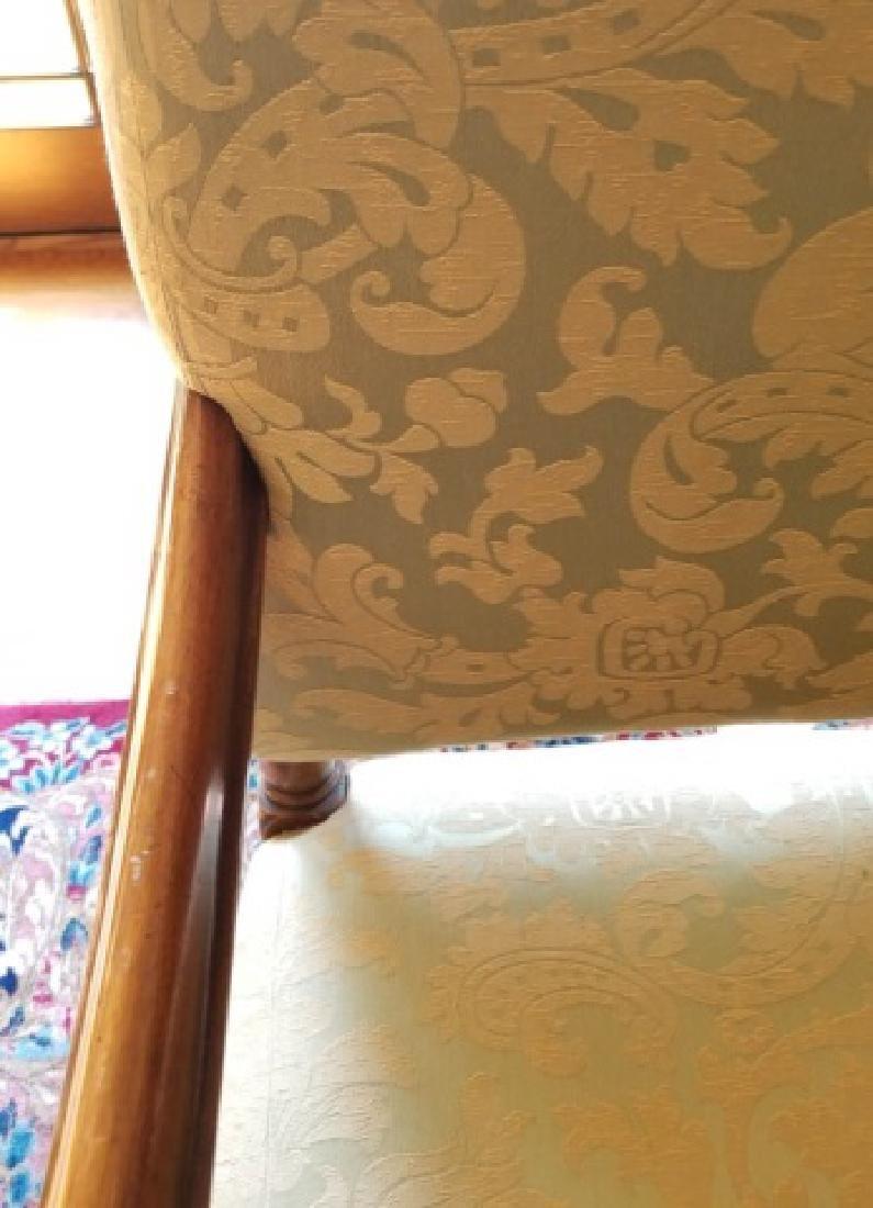 Antique Jacobean Tudor Style Sofa w Custom Fabric - 4