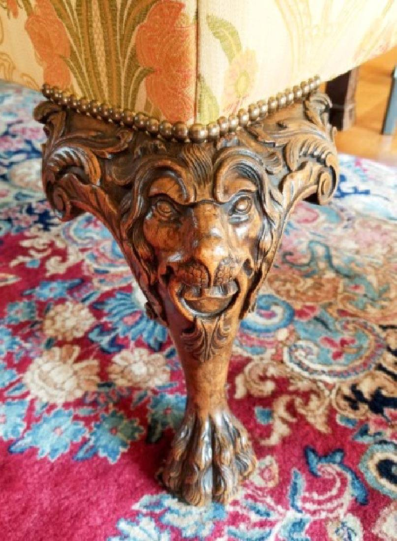 Antique Claw Foot Custom Fabric Camel Back Sofa - 5