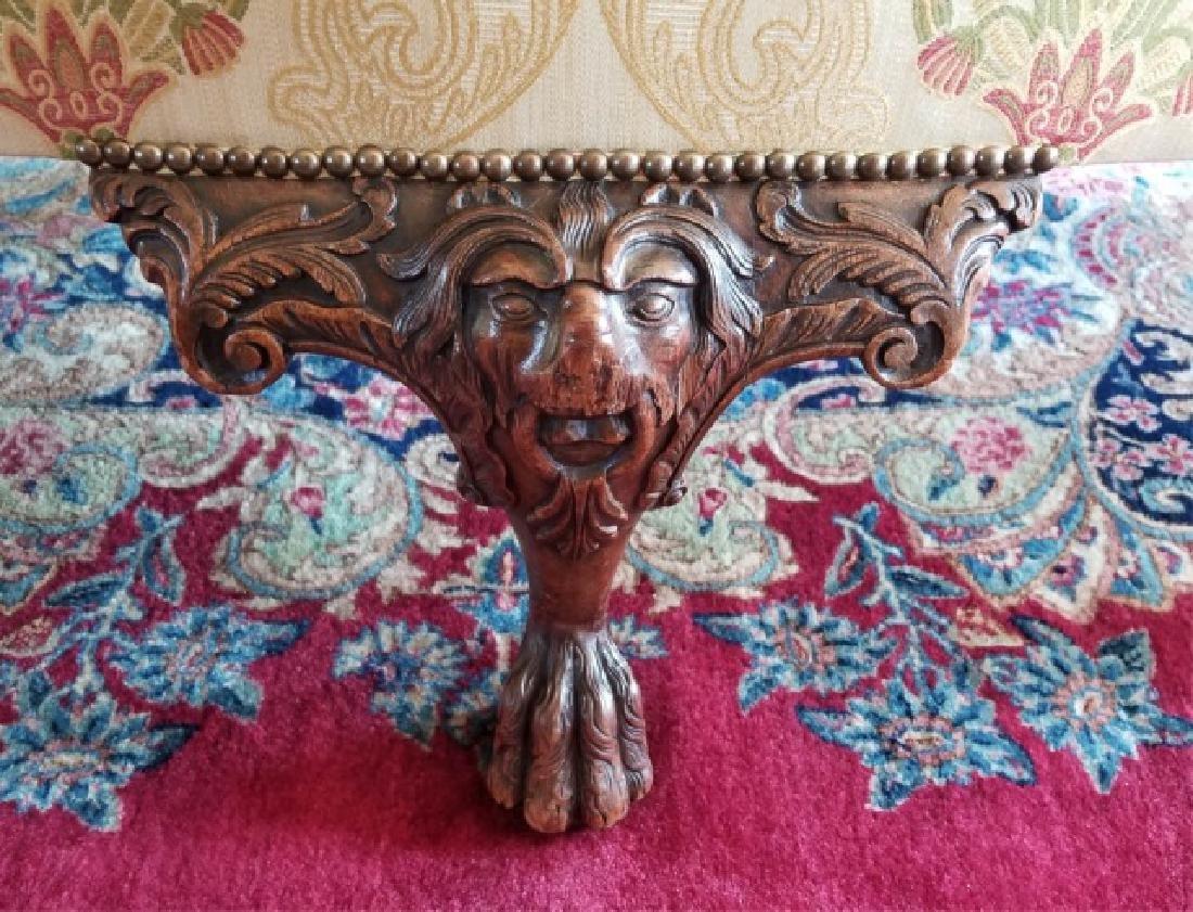 Antique Claw Foot Custom Fabric Camel Back Sofa - 6
