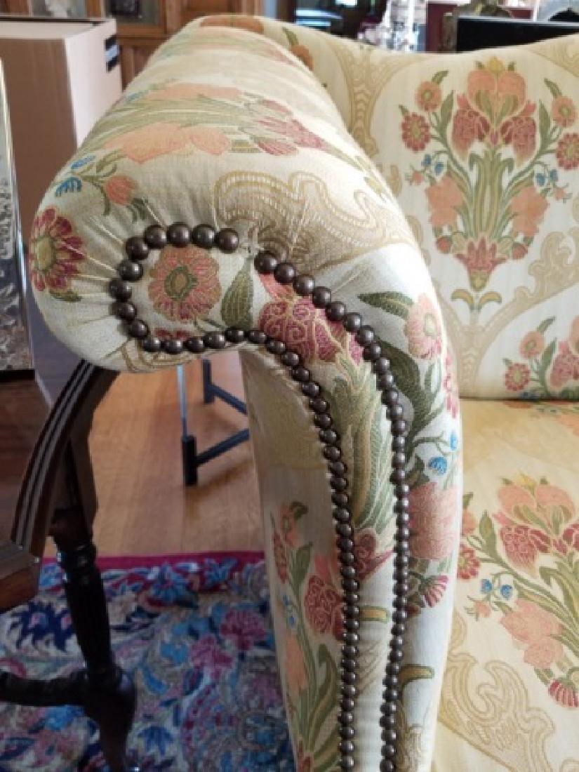 Antique Claw Foot Custom Fabric Camel Back Sofa - 8