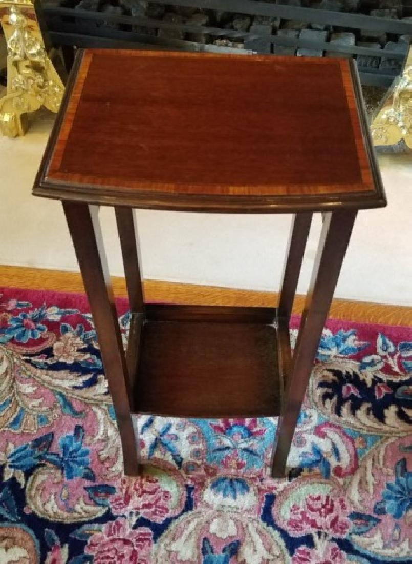 Three English Style Banded Wood Nesting Tables - 2