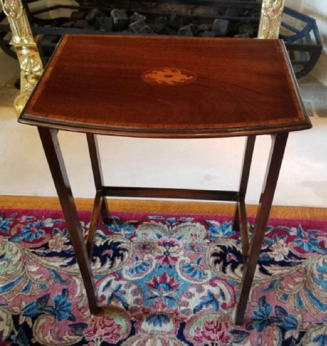 Three English Style Banded Wood Nesting Tables - 5