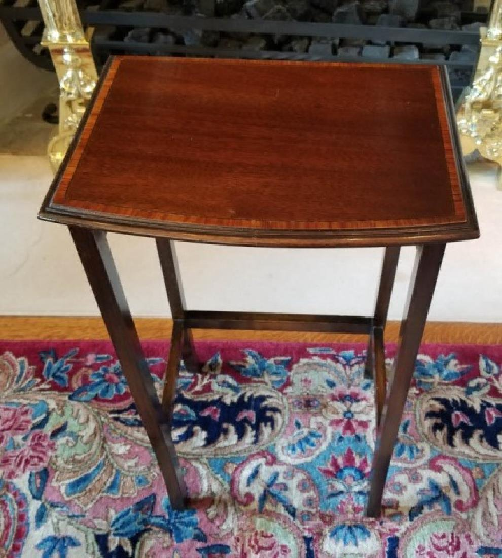 Three English Style Banded Wood Nesting Tables - 6