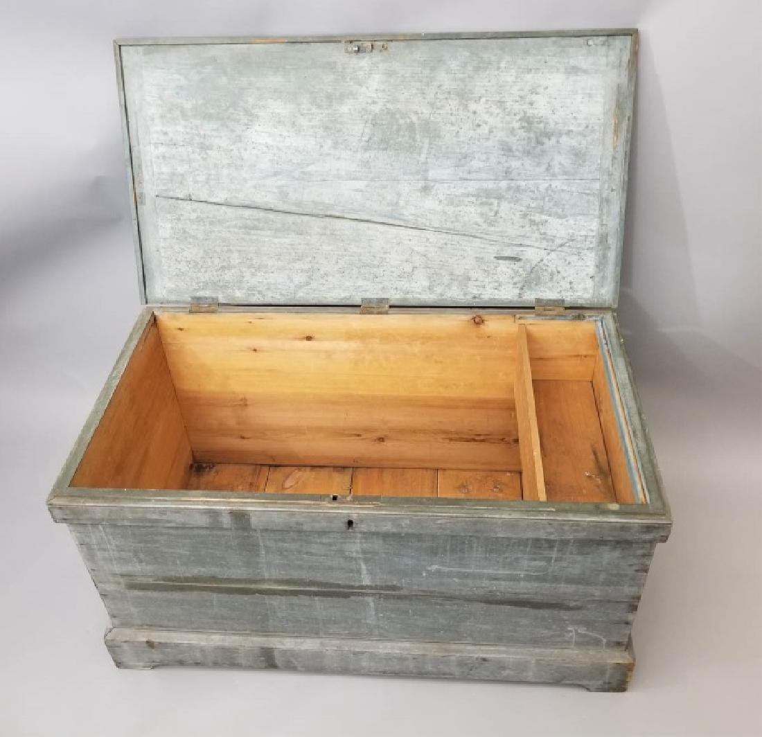 Antique 19th C American Orig Paint Blanket Chest