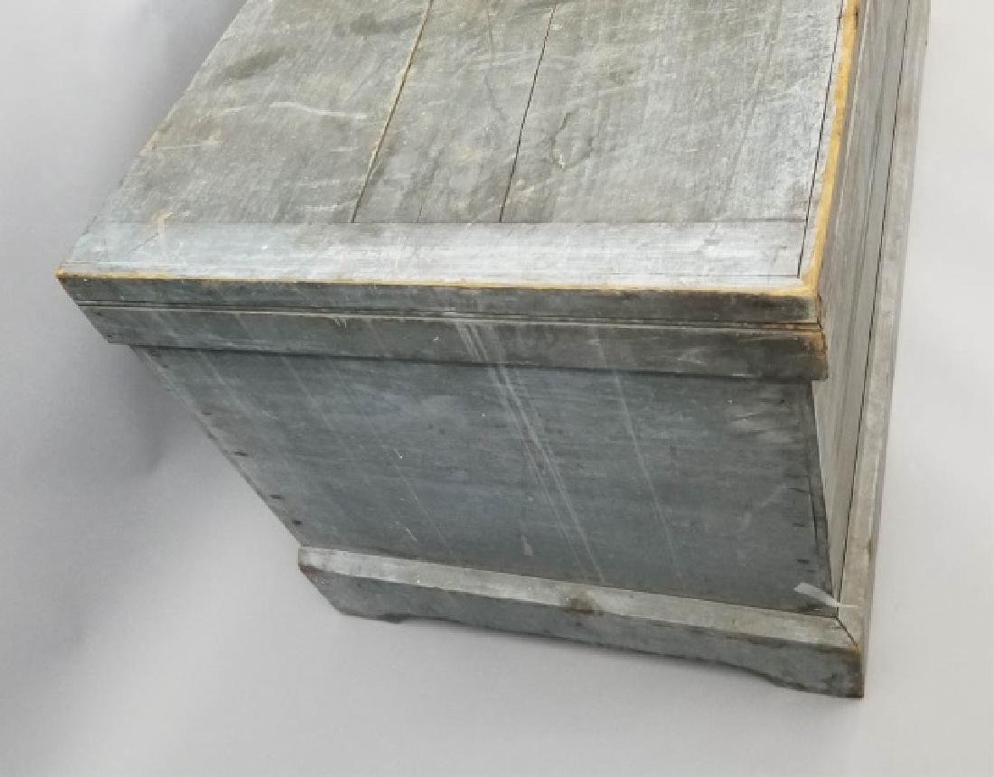 Antique 19th C American Orig Paint Blanket Chest - 3