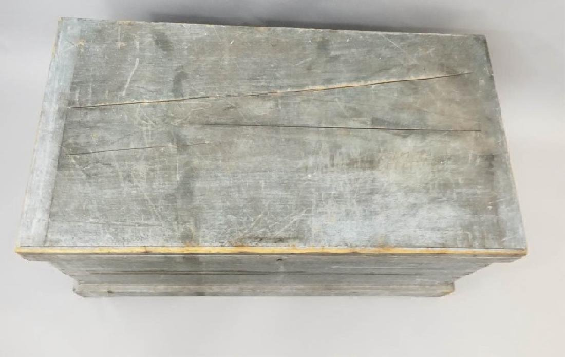Antique 19th C American Orig Paint Blanket Chest - 4