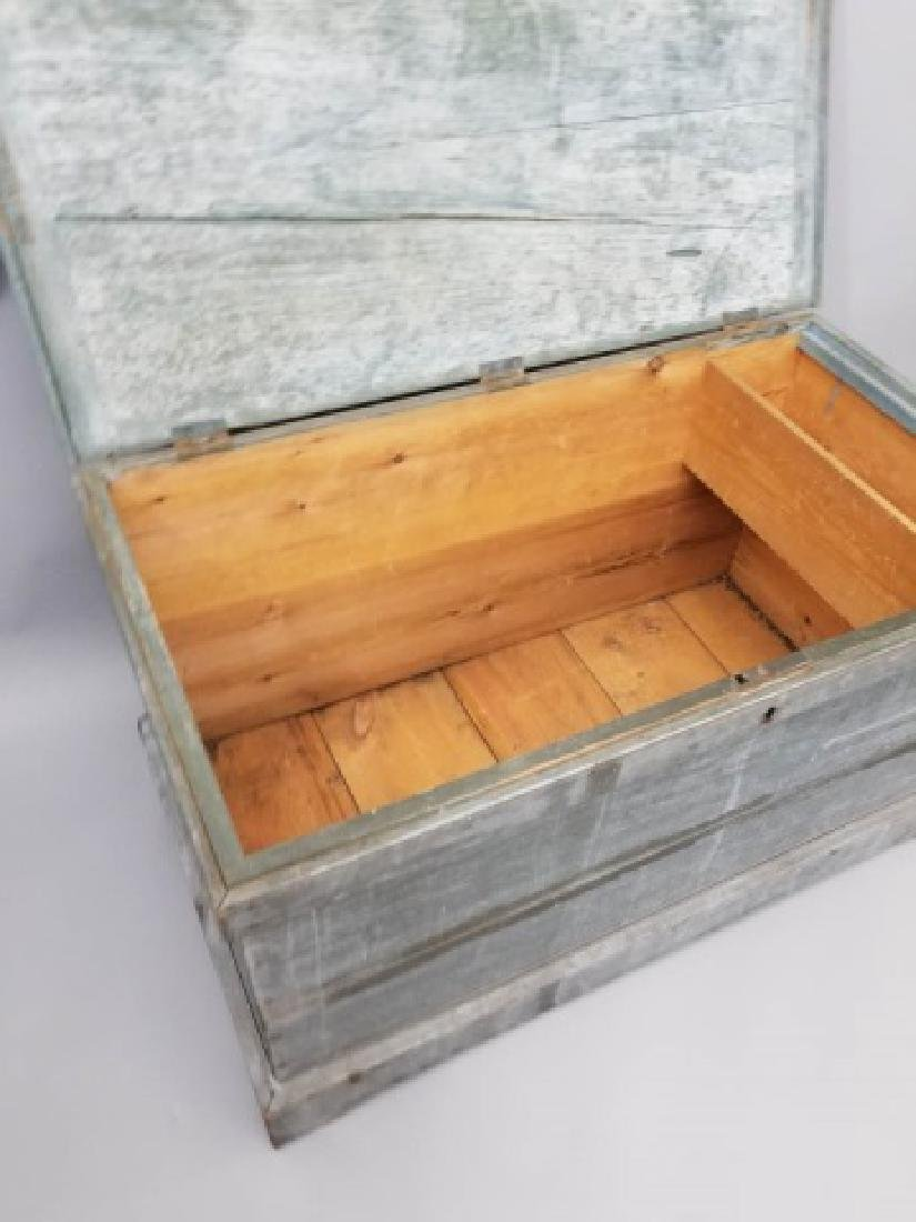 Antique 19th C American Orig Paint Blanket Chest - 8
