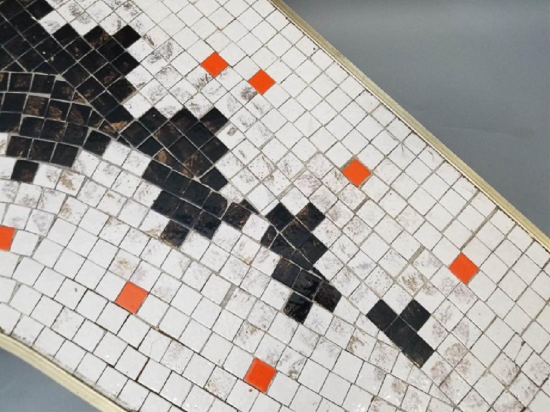 Mid Century Modern Mosaic Boomerang Coffee Table - 4