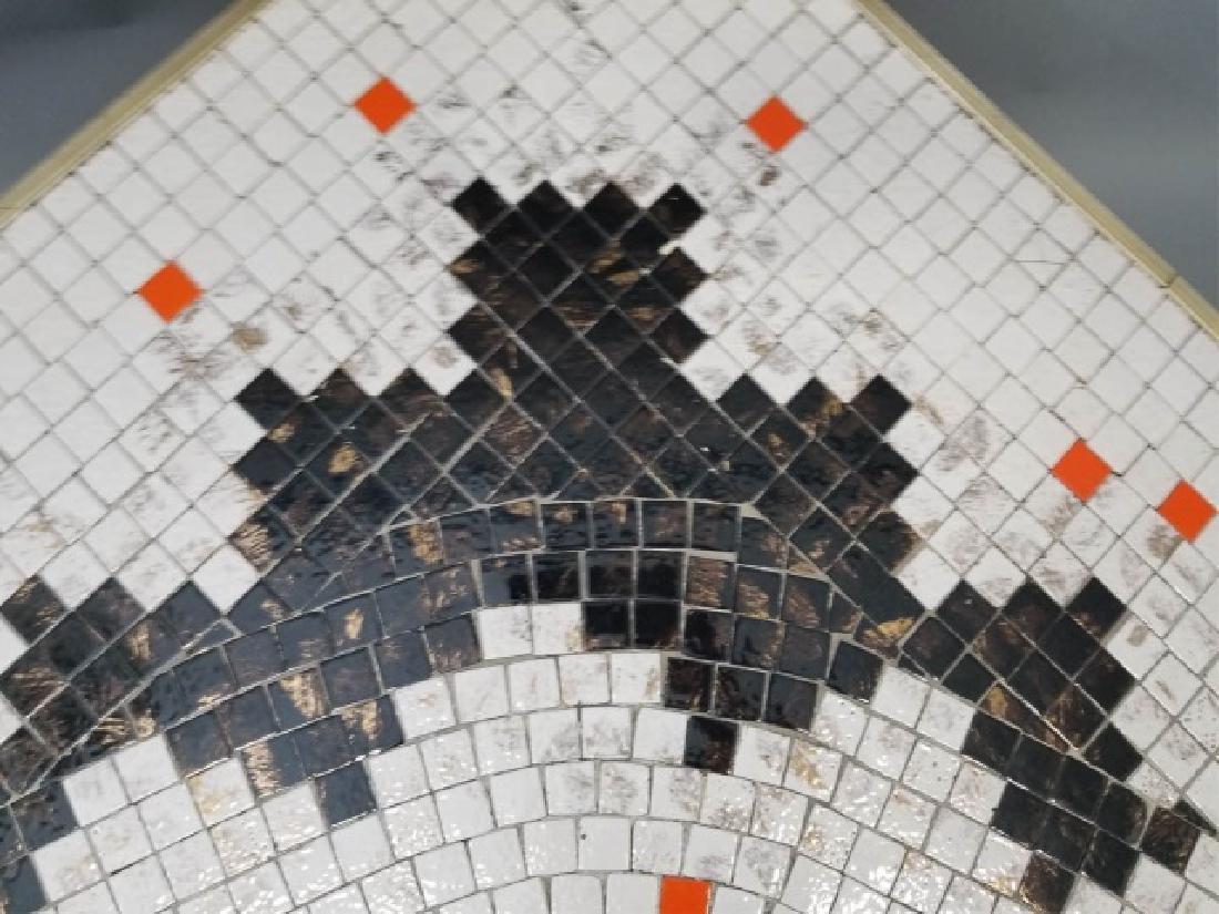 Mid Century Modern Mosaic Boomerang Coffee Table - 5