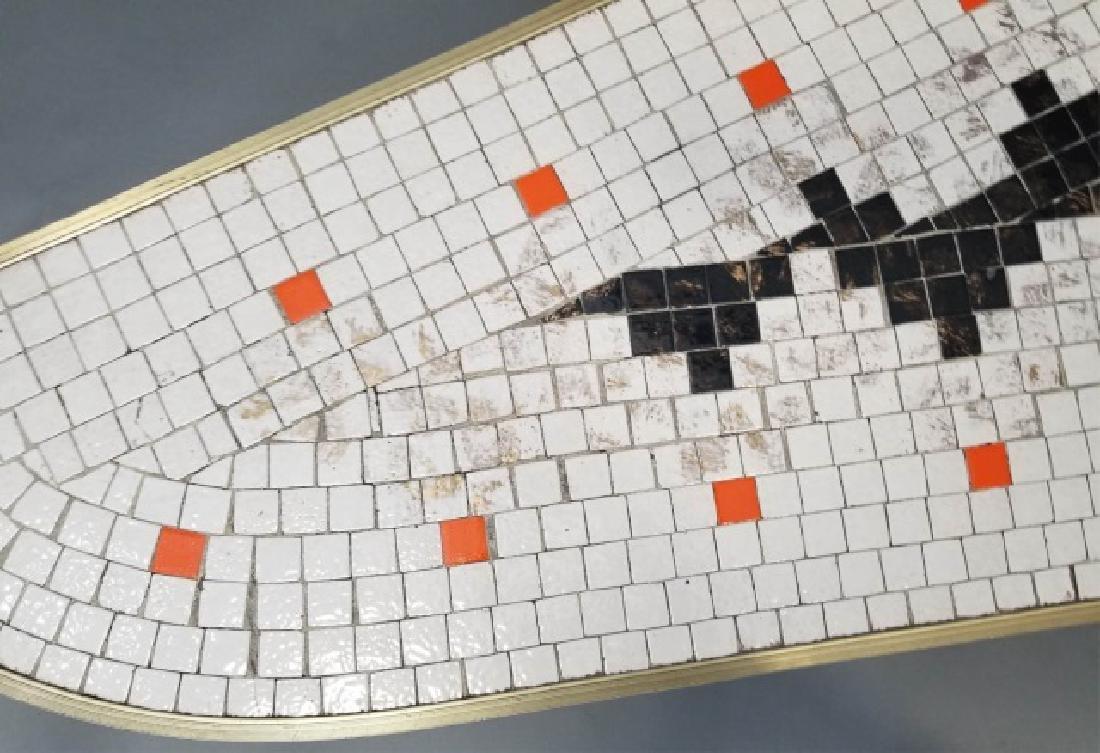 Mid Century Modern Mosaic Boomerang Coffee Table - 6