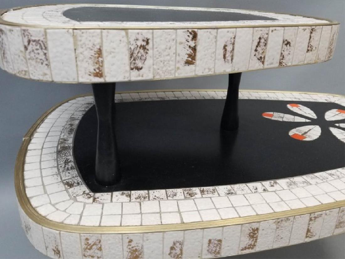 Mid Century Modern Mosaic Two Tier Coffee Table - 2