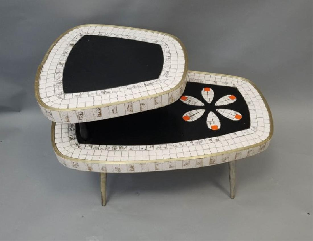 Mid Century Modern Mosaic Two Tier Coffee Table - 3