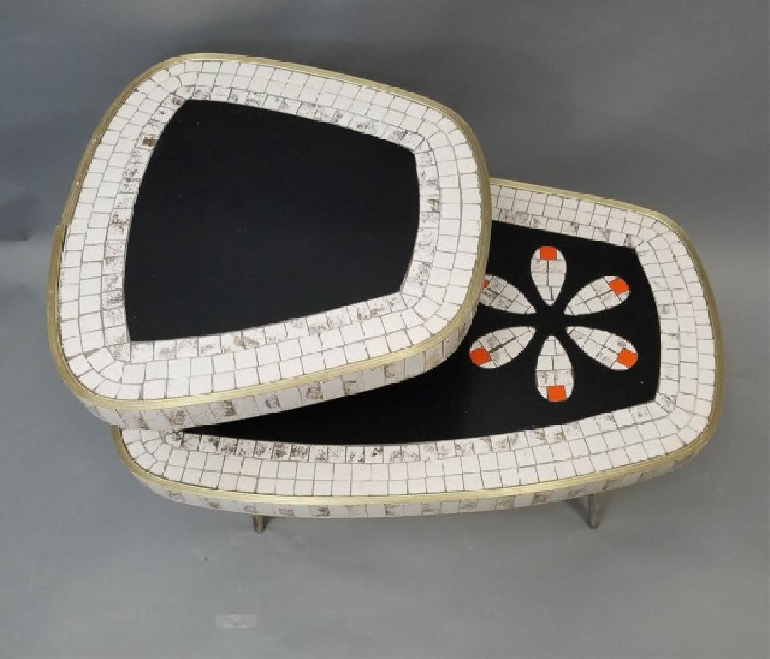 Mid Century Modern Mosaic Two Tier Coffee Table - 4