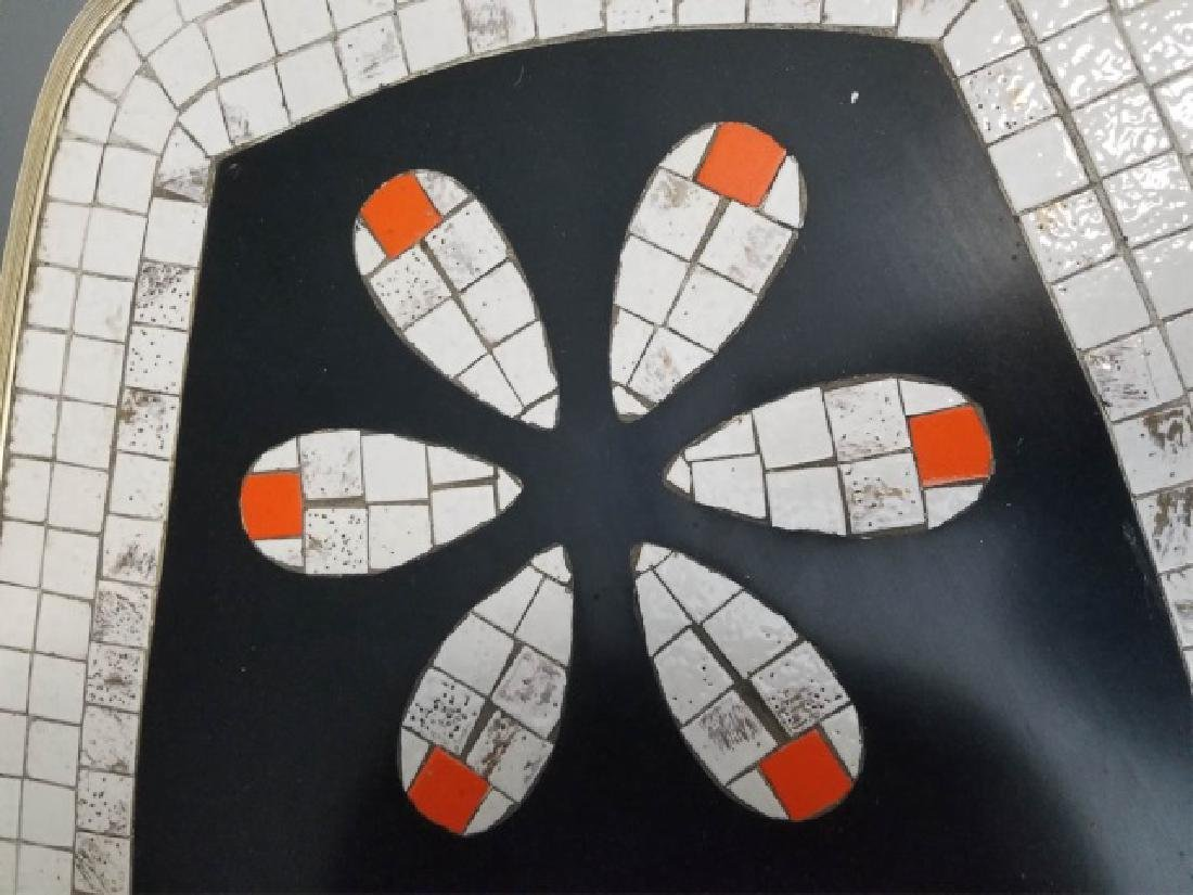 Mid Century Modern Mosaic Two Tier Coffee Table - 6