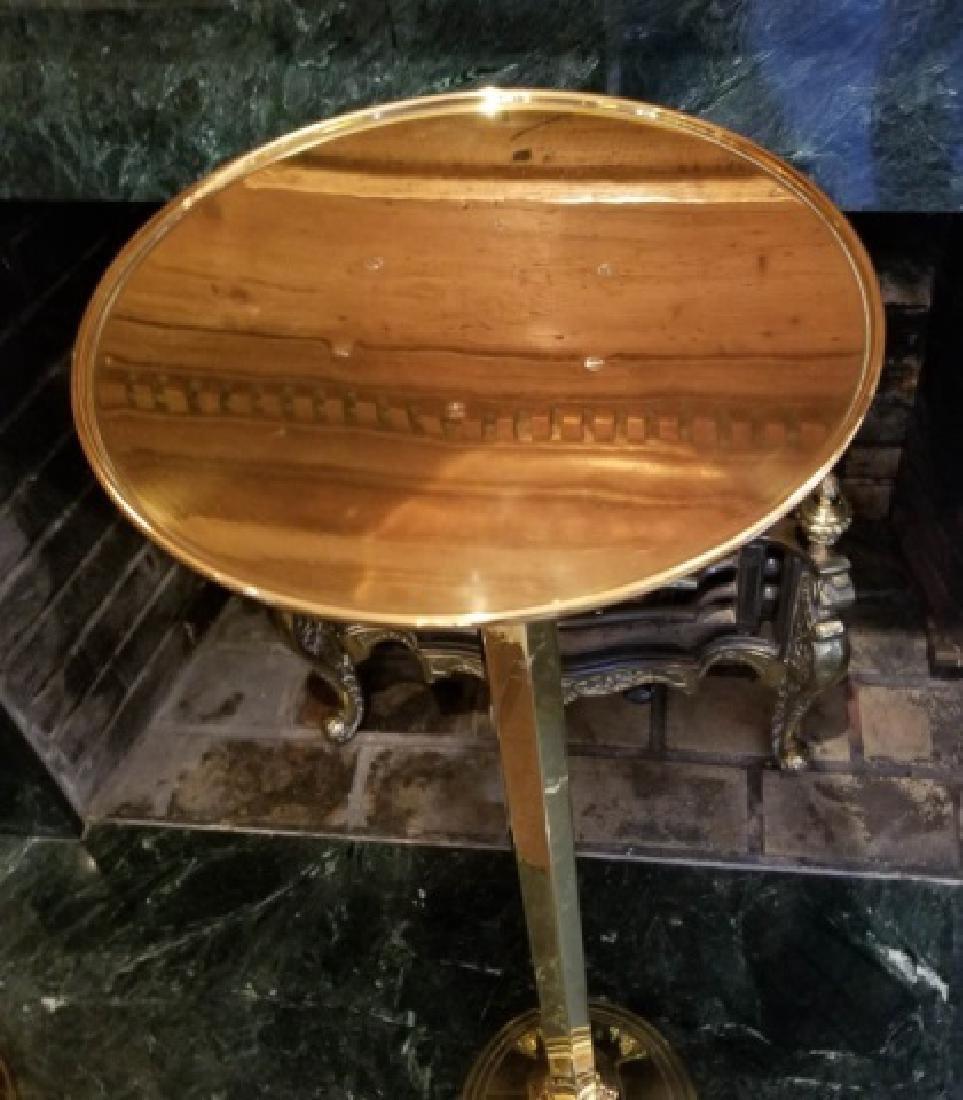Pair Gilt Brass Display Pedestals / Plant Stands - 3